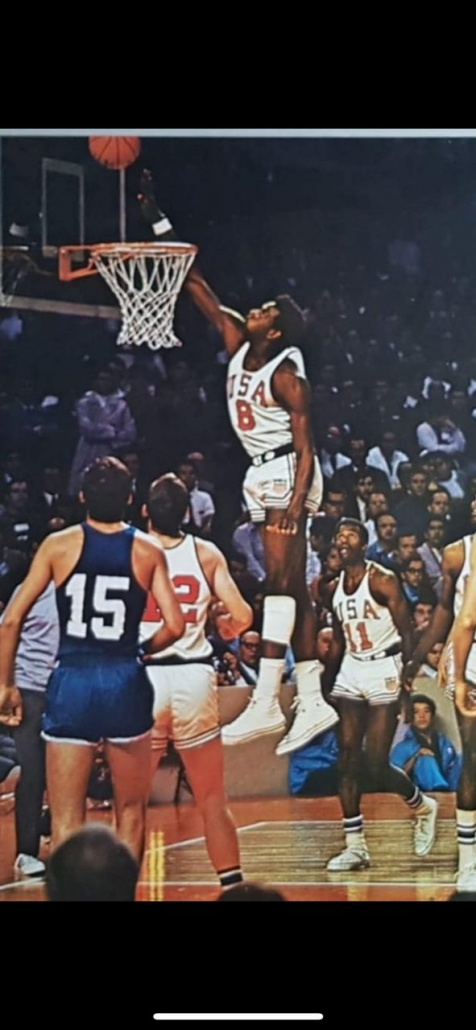 Spencer Haywood during 1968 Olympic Games